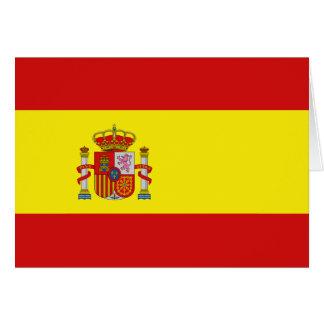 Spain Flag Notecard Greeting Card