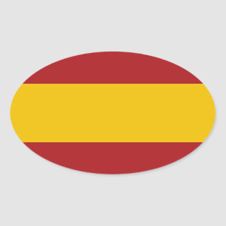 Spain Flag Oval Sticker