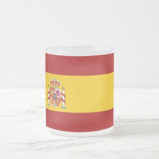 Spain flag quality frosted glass coffee mug