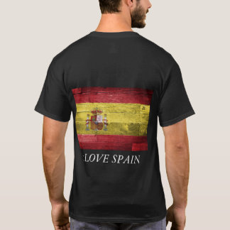Spain Flag T-shirt Men Cotton Shirt