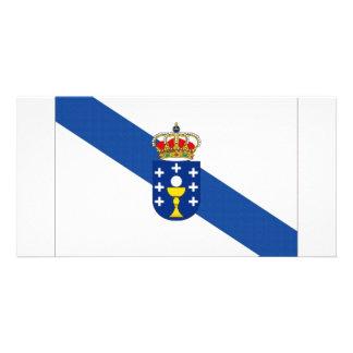 Spain Galicia Flag Customized Photo Card