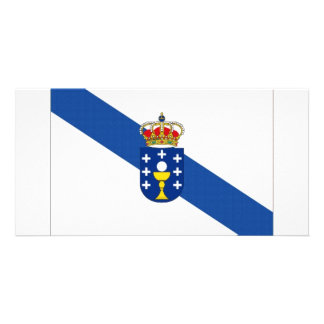 Spain Galicia Flag Picture Card
