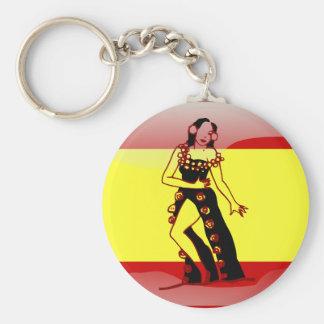Spain glossy flag key ring