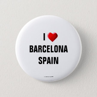 "Spain: ""I LOVE BARCELONA, SPAIN"" Button/Lapel Pin"