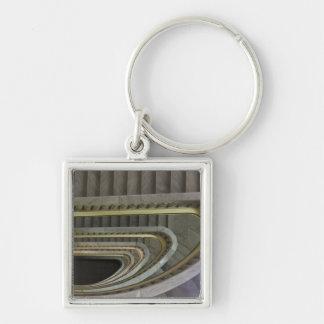 Spain, Madrid, Circulo de Bellas Artes, staircas 2 Silver-Colored Square Key Ring