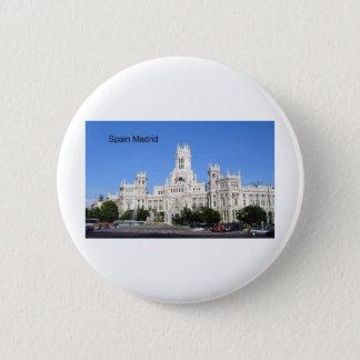 Spain, Madrid City Hall Plaza de Cibeles (St.K) 6 Cm Round Badge