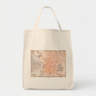 Spain: Madrid Map, C1920 Grocery Tote Bag