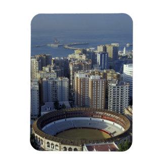Spain, Malaga, Andalucia View of Plaza de Toros Rectangular Photo Magnet