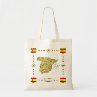 Spain Map + Flags Bag