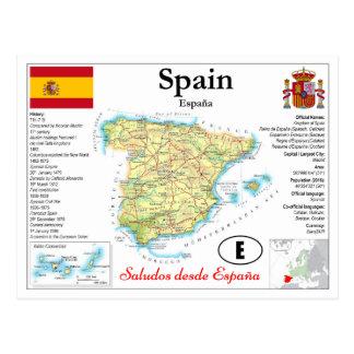 Spain map Postcard