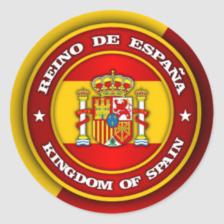 Spain Medallion Classic Round Sticker
