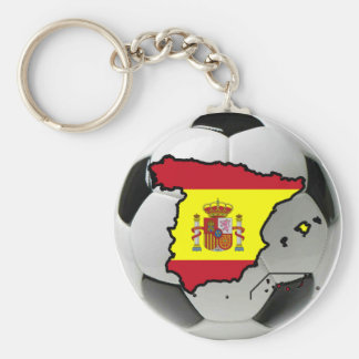 Spain national team basic round button key ring