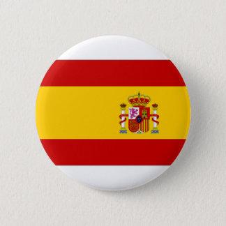 Spain Naval Jack 6 Cm Round Badge
