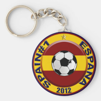 Spain No.1 #1 Champions of Europe Europa 2012 Basic Round Button Key Ring