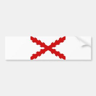 spain old flag new spanish indies conquistador bumper sticker