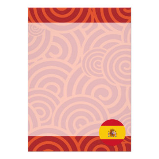 Spain round flag 13 cm x 18 cm invitation card