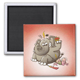 Spain s King Breaks Hip While Elephant Hunting Refrigerator Magnet