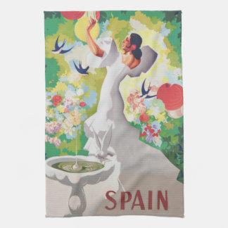 Spain Senorita Birds Flowers Fiesta Garden Kitchen Towels