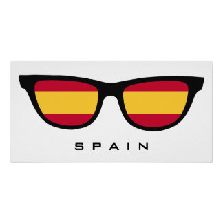 Spain Shades custom text & color poster