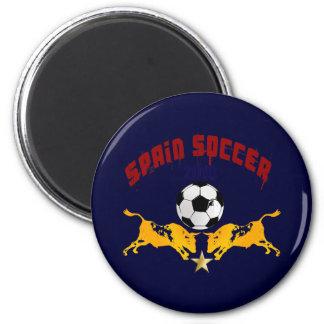 Spain Soccer 2010 La Furia Bull Toro Gift 6 Cm Round Magnet