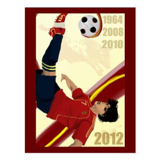 Spain Soccer Art 2012 Fútbol Campeones de Europa Postcard