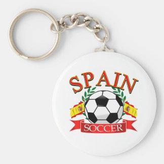 Spain soccer ball designs basic round button key ring