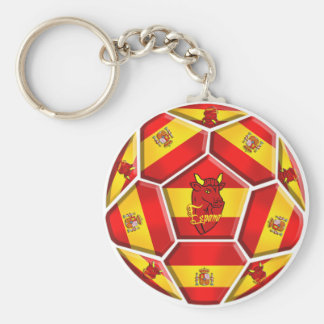Spain Soccer Basic Round Button Key Ring