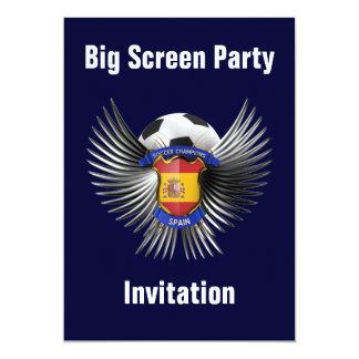 Spain Soccer Champions 13 Cm X 18 Cm Invitation Card