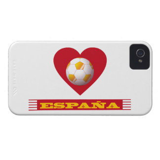 SPAIN Soccer Heart and Scarf Brazil 2014 iPhone 4 Cover