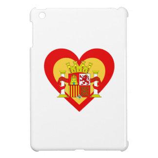 Spain/Spanish flag-inspired Hearts iPad Mini Cover