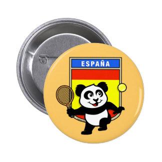Spain Tennis Panda 6 Cm Round Badge