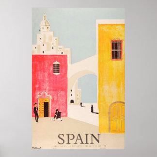 Spain travel poster vintage