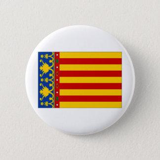 Spain Valencia Flag 6 Cm Round Badge