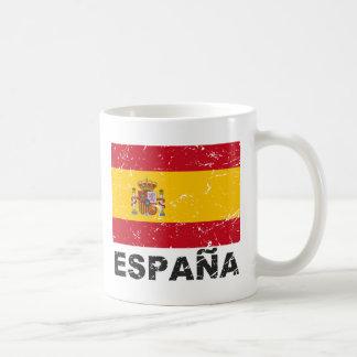Spain Vintage Flag Classic White Coffee Mug