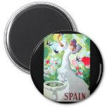Spain Vintage Image 6 Cm Round Magnet