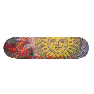 Spain Vintage Trendy Spanish Travel Collage 21.3 Cm Mini Skateboard Deck