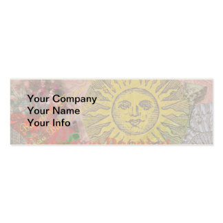 Spain Vintage Trendy Spanish Travel Collage Pack Of Skinny Business Cards