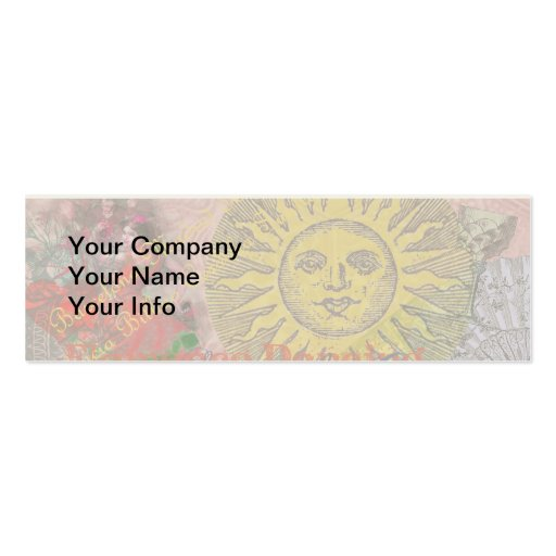 Spain Vintage Trendy Spanish Travel Collage Business Card Template