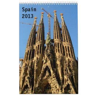 Spain Wall Calendar