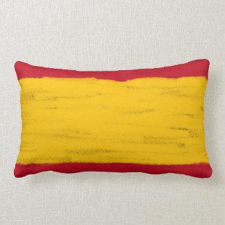 Spain wax pencil sketched flag throw pillows