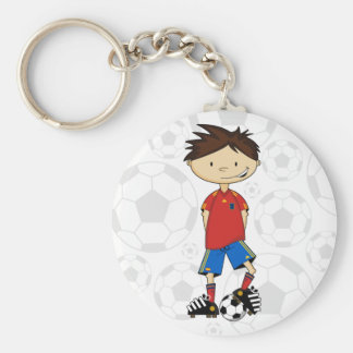 Spain World Cup Soccer Boy Key Chain