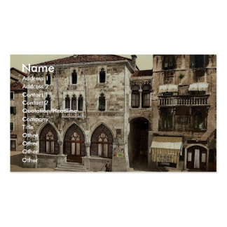 Spalato, the Communal Palace, Dalmatia, Austro-Hun Business Card Template
