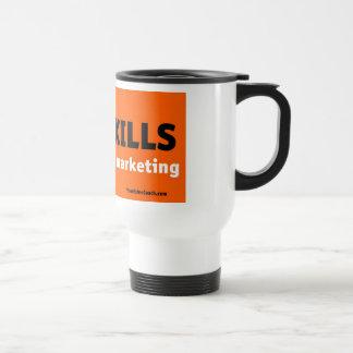 SPAM KILLS white travel mug