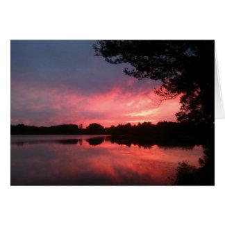 spamset: pink september sunset card