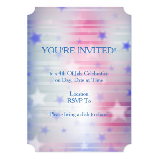 SPANGLED July 4th Party Invitation