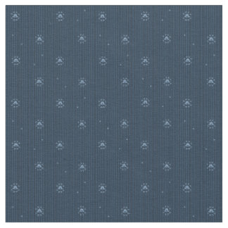 Spangled Union Blue Pattern Fabric