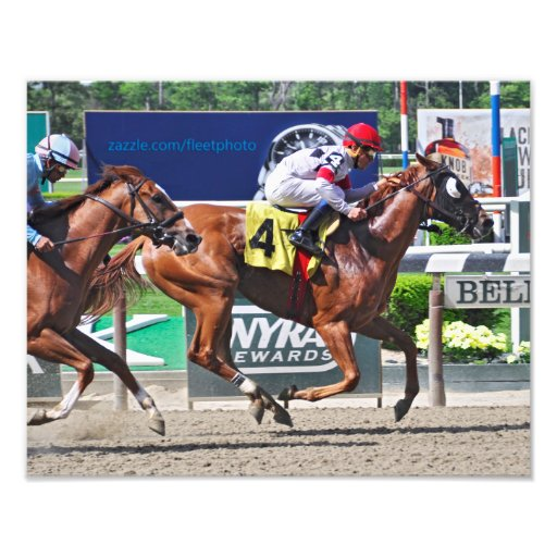 Spango winning at Belmont Park Photo Art