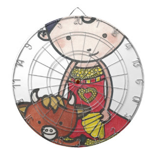 Spanie and castanet the bull calf dartboard