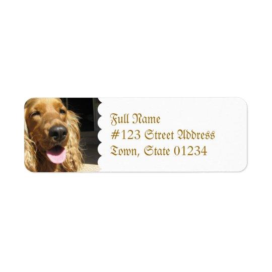 Spaniel Dog Mailing Label Return Address Label