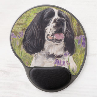 Spaniel in bluebells mouse mat